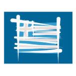 Bandera del cepillo de Grecia Tarjeta Postal