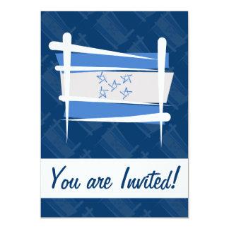 """Bandera del cepillo de Honduras Invitación 5"""" X 7"""""""
