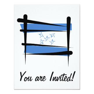 """Bandera del cepillo de Honduras Invitación 4.25"""" X 5.5"""""""