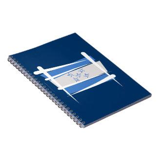 Bandera del cepillo de Honduras Libro De Apuntes Con Espiral