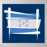 Bandera del cepillo de Honduras Posters
