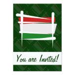 Bandera del cepillo de Hungría Invitación 12,7 X 17,8 Cm