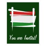 Bandera del cepillo de Hungría Invitación 10,8 X 13,9 Cm