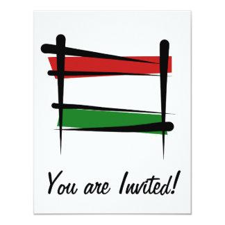 """Bandera del cepillo de Hungría Invitación 4.25"""" X 5.5"""""""