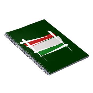 Bandera del cepillo de Hungría Libreta Espiral