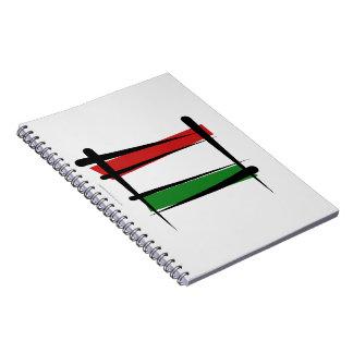 Bandera del cepillo de Hungría Libros De Apuntes