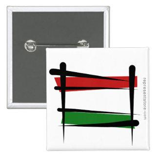 Bandera del cepillo de Hungría Pin