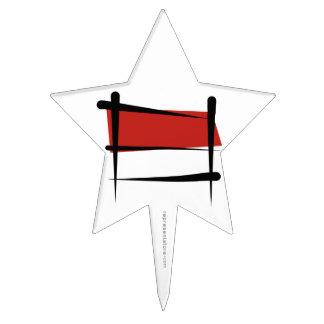 Bandera del cepillo de Indonesia Figuras De Tarta