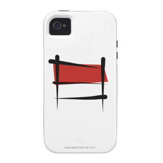 Bandera del cepillo de Indonesia iPhone 4/4S Fundas