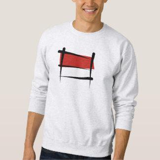 Bandera del cepillo de Indonesia Sudadera