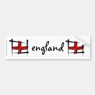 Bandera del cepillo de Inglaterra Pegatina De Parachoque