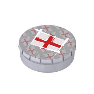 Bandera del cepillo de Inglaterra Frascos De Dulces