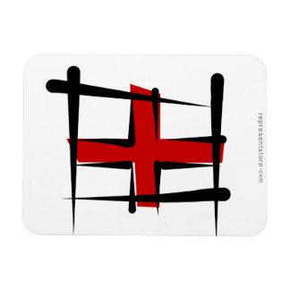 Bandera del cepillo de Inglaterra Iman Flexible
