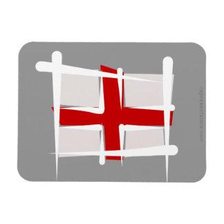 Bandera del cepillo de Inglaterra Imán