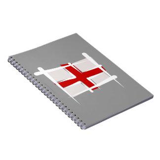 Bandera del cepillo de Inglaterra Libros De Apuntes