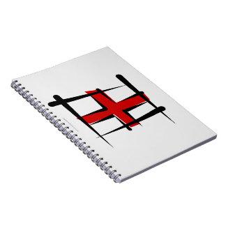 Bandera del cepillo de Inglaterra Libro De Apuntes