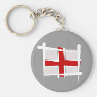 Bandera del cepillo de Inglaterra Llavero Redondo Tipo Pin