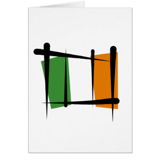 Bandera del cepillo de Irlanda Tarjeton