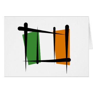 Bandera del cepillo de Irlanda Tarjeta