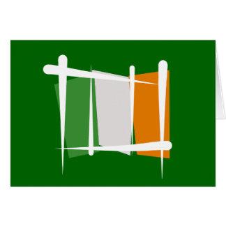 Bandera del cepillo de Irlanda Tarjetas