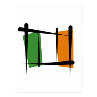 Bandera del cepillo de Irlanda Postales