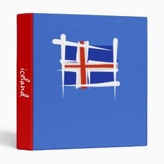 Bandera del cepillo de Islandia
