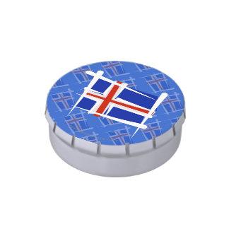 Bandera del cepillo de Islandia Frascos De Caramelos