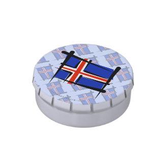 Bandera del cepillo de Islandia Frascos De Dulces
