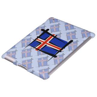 Bandera del cepillo de Islandia Funda Para iPad