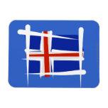 Bandera del cepillo de Islandia Imán Flexible