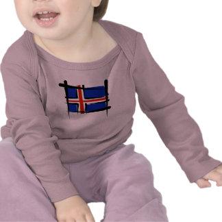 Bandera del cepillo de Islandia Camiseta
