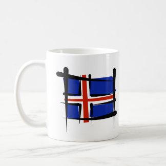 Bandera del cepillo de Islandia Taza Clásica