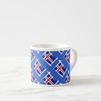 Bandera del cepillo de Islandia Taza Espresso