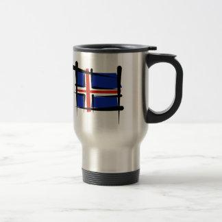 Bandera del cepillo de Islandia Taza Térmica