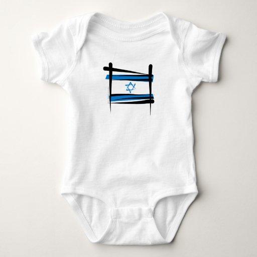 Bandera del cepillo de Israel Body Para Bebé