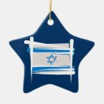 Bandera del cepillo de Israel Ornamentos De Reyes Magos