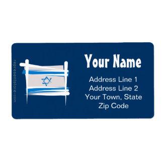 Bandera del cepillo de Israel Etiqueta De Envío