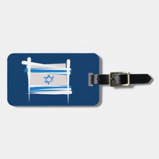 Bandera del cepillo de Israel Etiqueta Para Equipaje