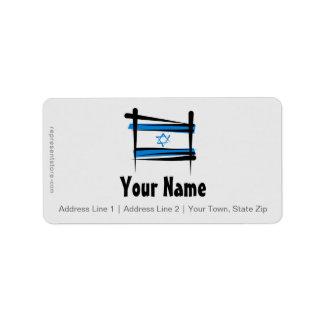 Bandera del cepillo de Israel Etiquetas De Dirección