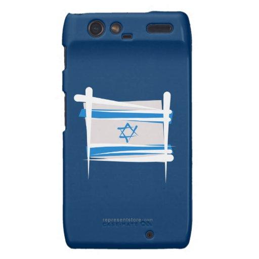 Bandera del cepillo de Israel Motorola Droid RAZR Fundas