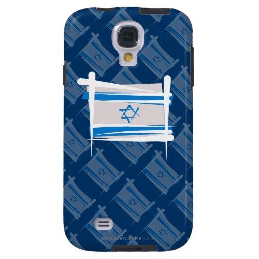 Bandera del cepillo de Israel Funda Para Galaxy S4