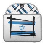 Bandera del cepillo de Israel Funda Para Macbook Pro