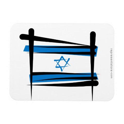 Bandera del cepillo de Israel Iman
