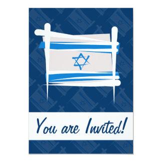 """Bandera del cepillo de Israel Invitación 5"""" X 7"""""""
