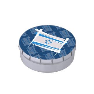 Bandera del cepillo de Israel Latas De Caramelos