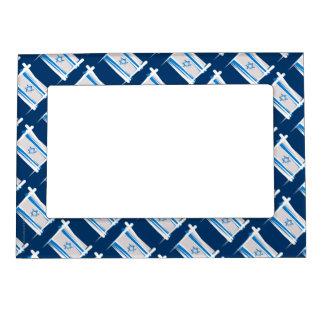 Bandera del cepillo de Israel Marcos Magneticos Para Fotos