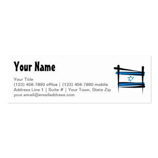 Bandera del cepillo de Israel Tarjetas De Visita Mini