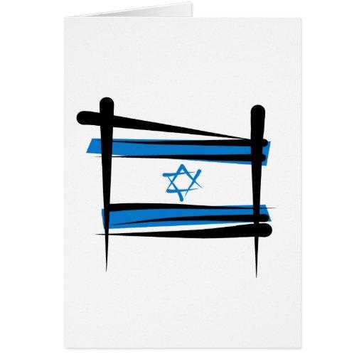 Bandera del cepillo de Israel Tarjetón