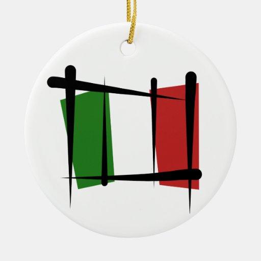 Bandera del cepillo de Italia Adorno