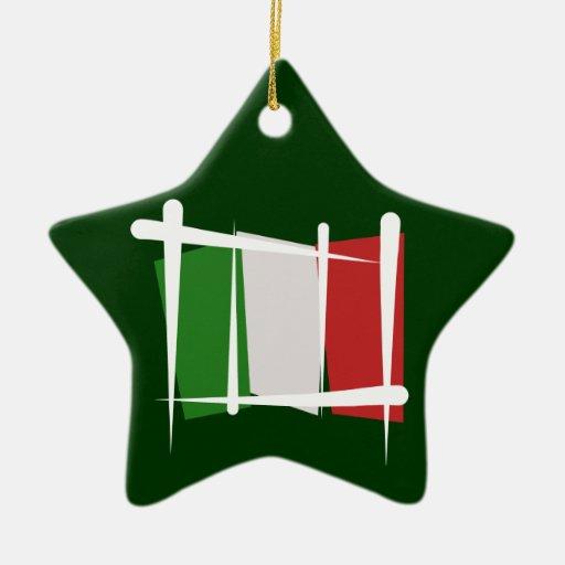 Bandera del cepillo de Italia Adornos De Navidad